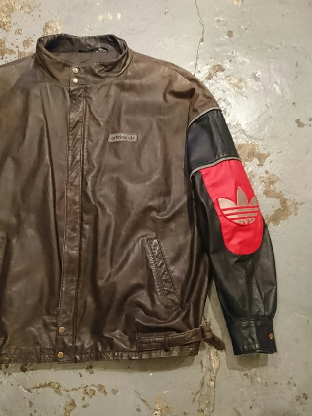 "80s ""adidas Leather Jacket"""