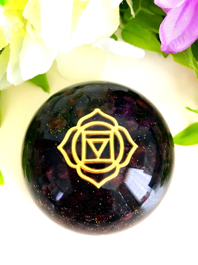 第1チャクラ対応オルゴナイト~ガーネット~(銅ナゲット)