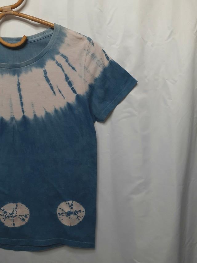 藍染めTシャツ⑤(レディースサイズ)