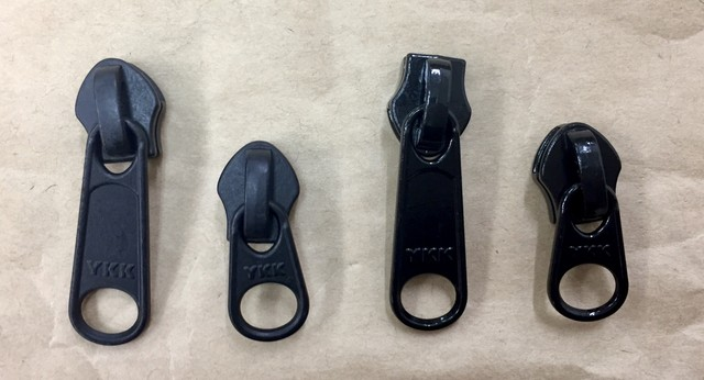 YKK スライダー 止水ファスナー アクアガード用  3c DFW(短) 黒 つやあり/つやなし 10個