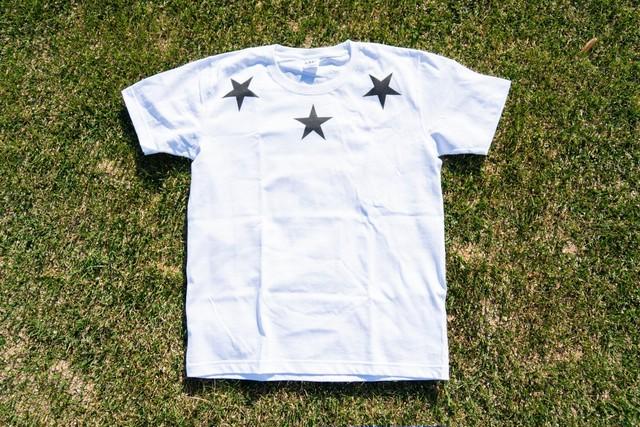 【Round star T-shirt】/ white