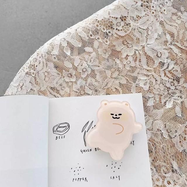 【送料無料】即納 韓国スマホリング Sleep|ベア グリップトック スマホアクセサリー 韓国 雑貨