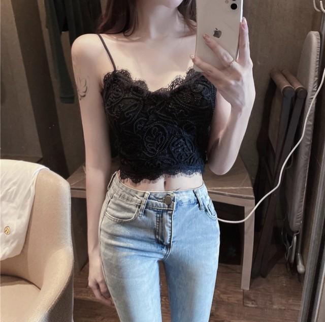 lace mini camisole 2color
