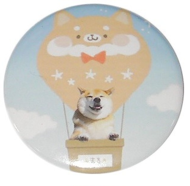 柴犬まる & momochy コラボ -気球に乗ってどこまでも- マグネット