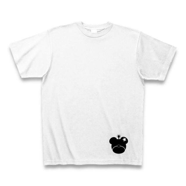 くまこロゴTシャツひらめき【ホワイト】