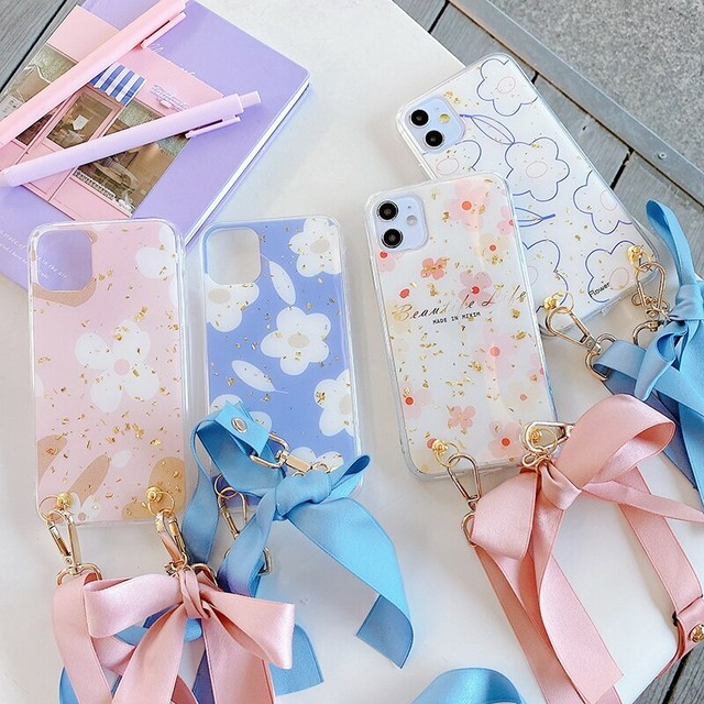 【オーダー商品】Gold foil  flowers iphone case