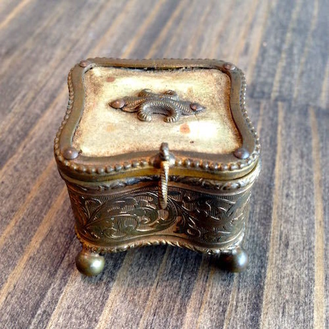 Antique Jewelry Trinket Box