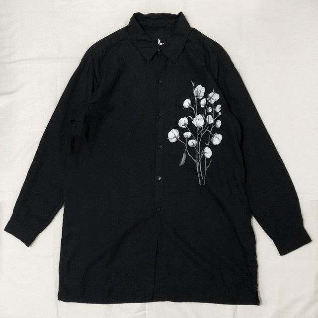 ORGANIC COTTON TWILL LONG SHIRT 【受注生産】