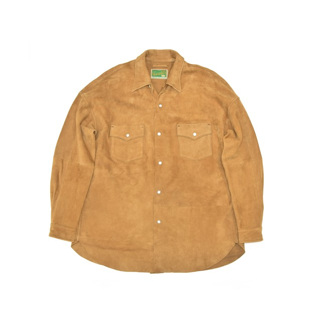 WEST OVERALLS Suede Shirt Brown 17AWSH02S