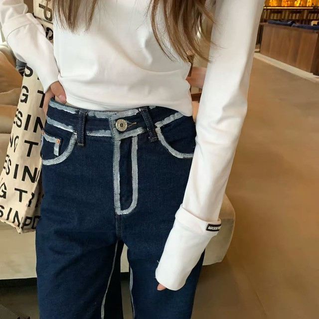 white line over pants