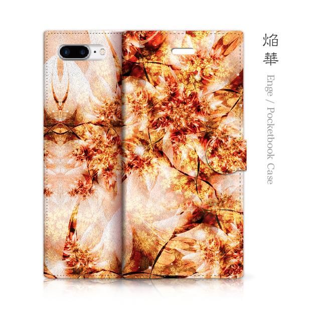 焔華 - 和風 手帳型iPhoneケース