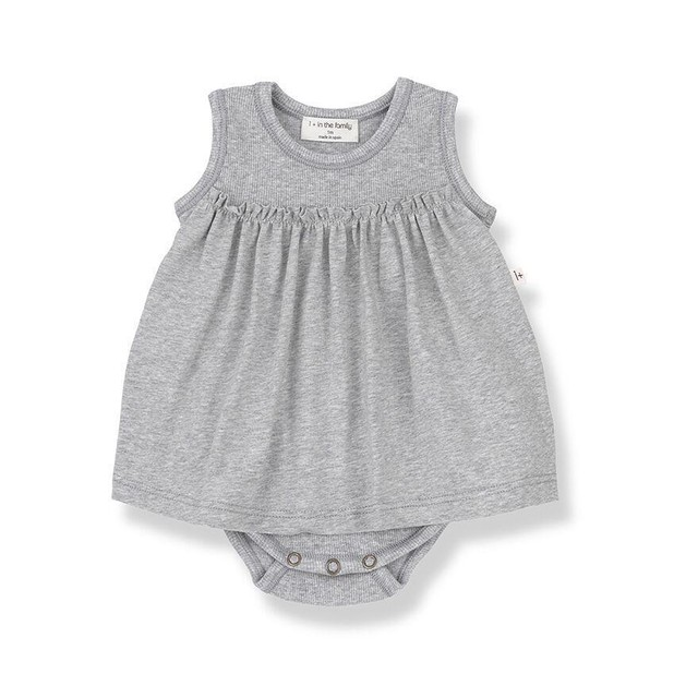 1 + in the family / SYBILLA body dress[grey]