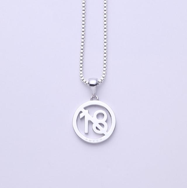 K18GP OMECO ネックレス 18禁 or オメコ 2デザイン 2カラー(イエローゴールド or ホワイトゴールド)※チェーン2種から選択可