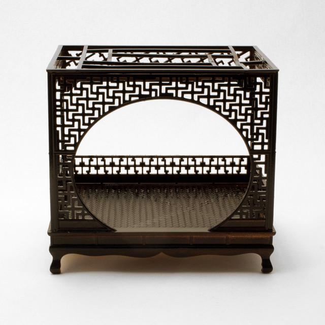 中国風ミニチュア家具/架子床(樹脂製)
