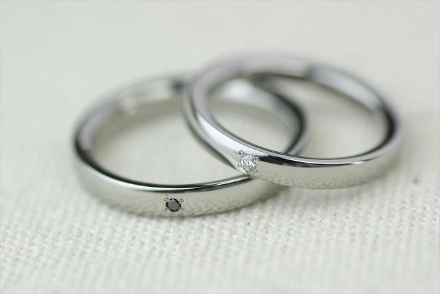プラチナ結婚指輪 素心 1石 <No1>