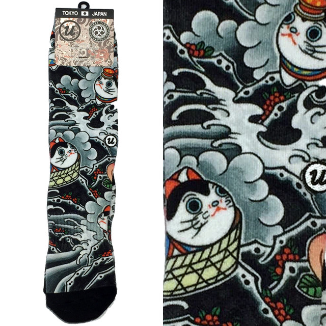 "THREE TIDES TATTOO x UBIQ ""IREZUMI"" SOCKS Designed by NAMI"
