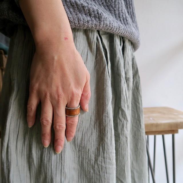 Beads & Leather Simple Ring(Myn da Roca)