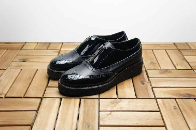 WING TIP ZIPPER SHOES (MUDGUARD)
