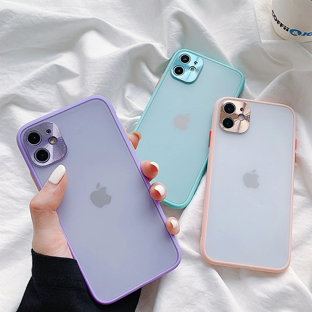 clear color silicone iphone case