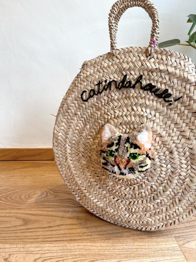 CAT INDA HOUSE!/ カゴバック(キジトラ)
