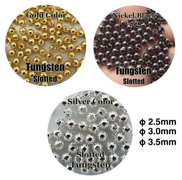 Tungsten Slotted Beads φ3.5mm