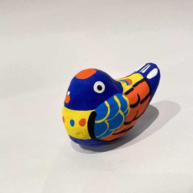 郷土玩具ざんまい / 広島県 宮島張子 起き上がり鳥 るりかけす