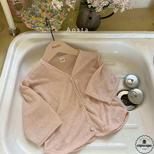 «予約» Aosta Linen cardigan 4colors リネン カーディガン