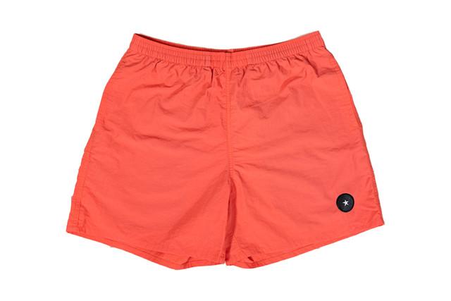 【Taslan nylon shorts】/ coral red