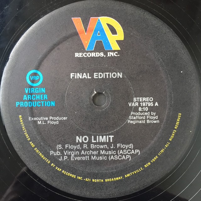 Final Edition ‎– No Limit / I Can Do It (Anyway You Want)