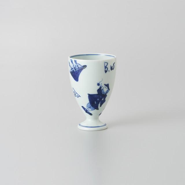 【青花】異人づくし フリーカップ(小)