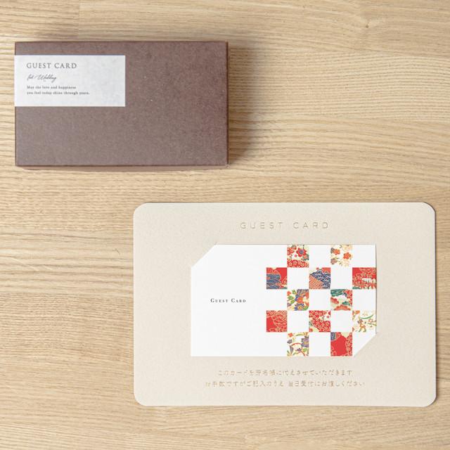 【ゲストカード│名入れなし】ICHIMATSU KIMONO(市松 着物)│30枚セット