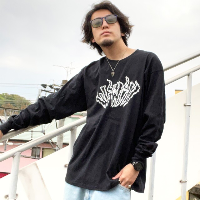 【WillxWill × Musollon】スペシャルコラボレーション Logo Long Sleeve Black