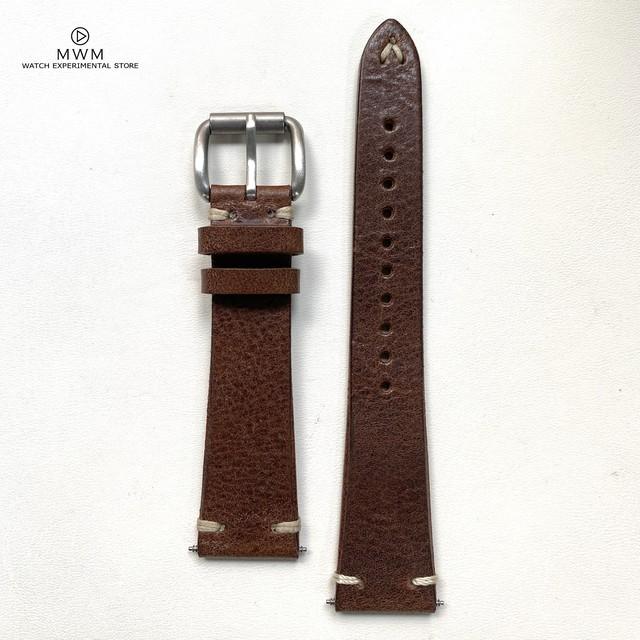 """ANZIANO""  MONTANA Collection イタリアンレザー ローリングバックル エスプレッソ 20mm 腕時計ベルト"