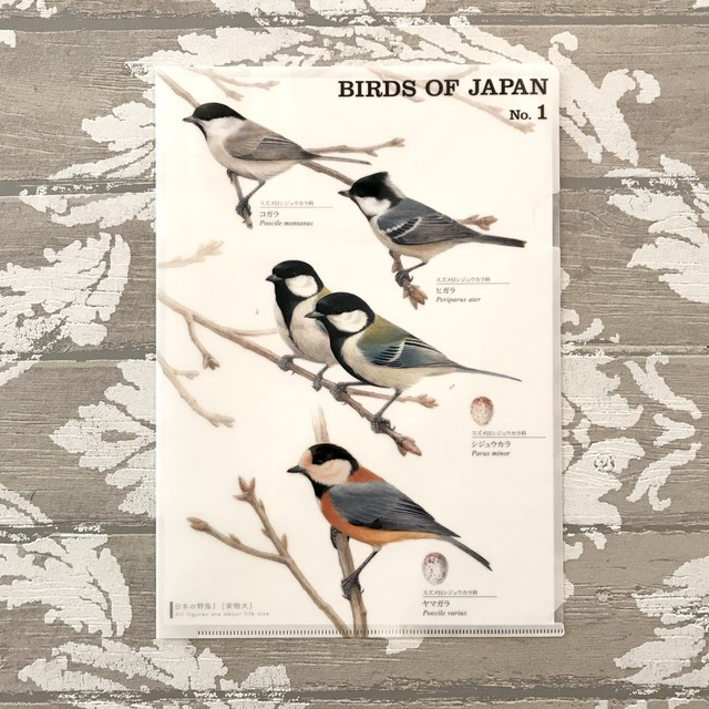 日本の野鳥クリアファイル No.1
