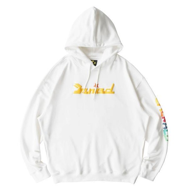 MAISON EMERALD Colorful Star Hoodie WHITE