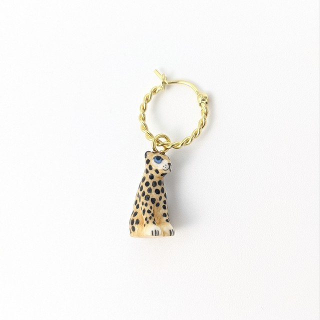 【Nach】 mini leopard earring -one piece-