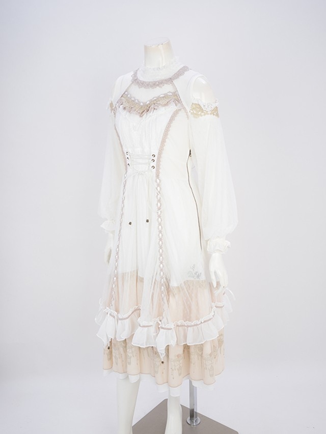 Airy lace レイヤードOP  3211506t