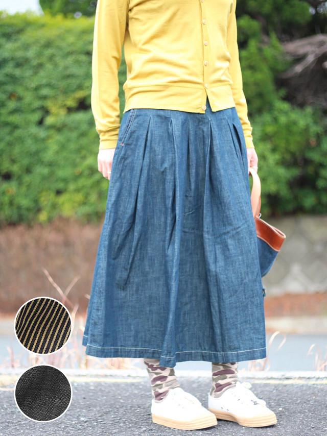 【ONEWASH】ロングタックスカート