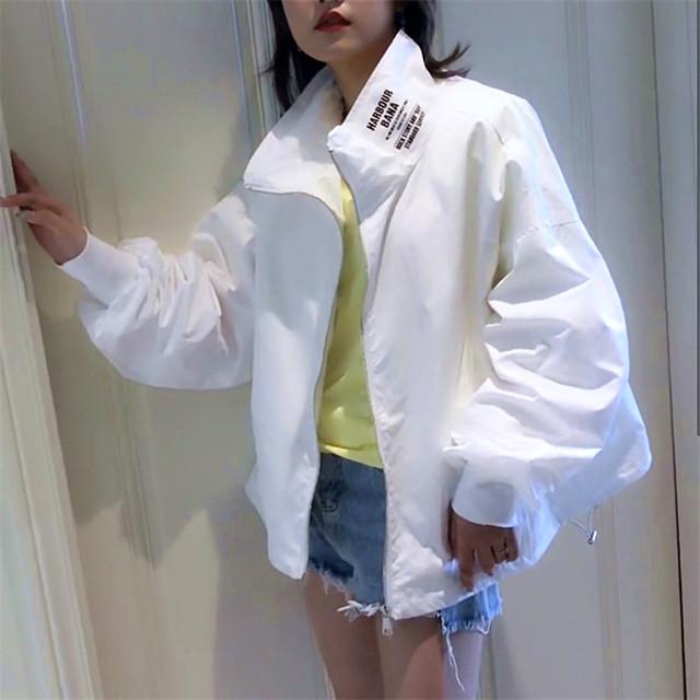 【アウター】カジュアルプリントシンプルハイネックジャケット33936262