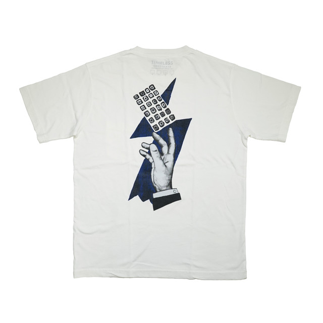 """""""HAND"""" S/S ポケットTシャツ V.WHITE"""