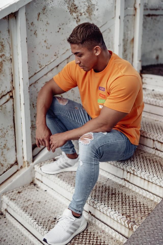 XENO STICKER LOGO T-SHIRT Orange