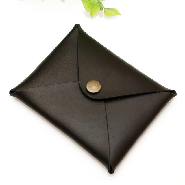 牛革ブラック・レター型カード名刺ケース 国産牛本革/Made in Japan Bateisha