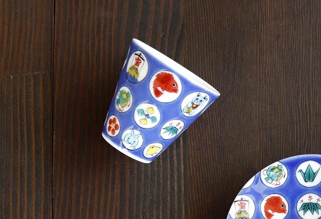 【SP3K20-21】『九谷縁起ちょこコレクション』『丸紋宝紋〈MARUMONTAKARAMON〉』 *かわいい縁起ちょこ 縁起物 コレクション 小物入れ ギフト 九谷焼