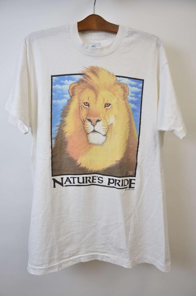 【Lサイズ寸】NATURE PRIDE TEE ネイチャーズ プライド ライオン 半袖Tシャツ WHITE 400601190760