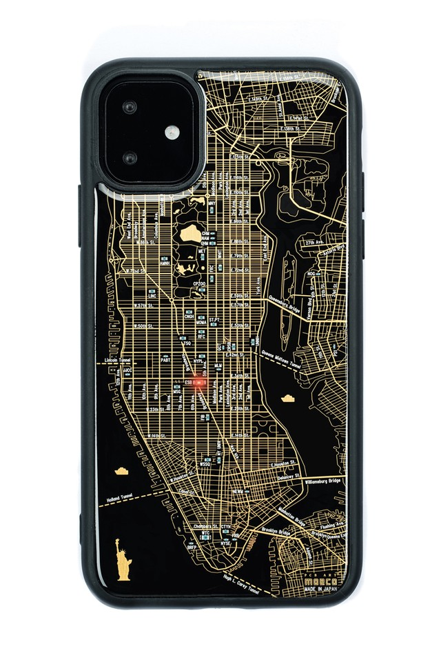 FLASH NY回路地図 iPhone 11 ケース  黒【東京回路線図A5クリアファイルをプレゼント】