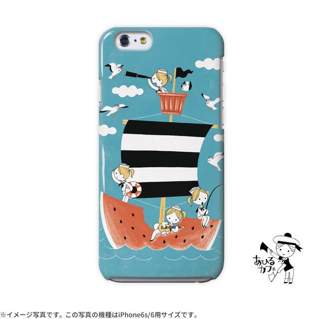 【限定色】iphone5c ケース ハードケース アイフォン5c ケース ハード iphone5c ケース キラキラ かわいい 夏 海 カモメ スイカのお船/あひるカフェ