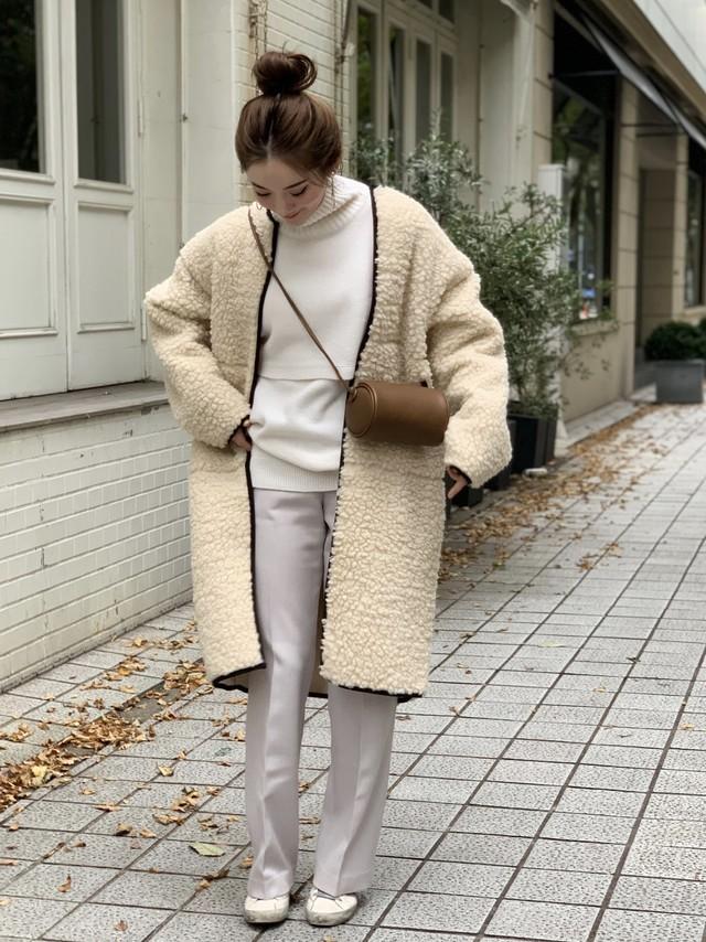 【予約】poodle coat / off white  11/29 21:00 ~再販 (12月下旬配送予定)