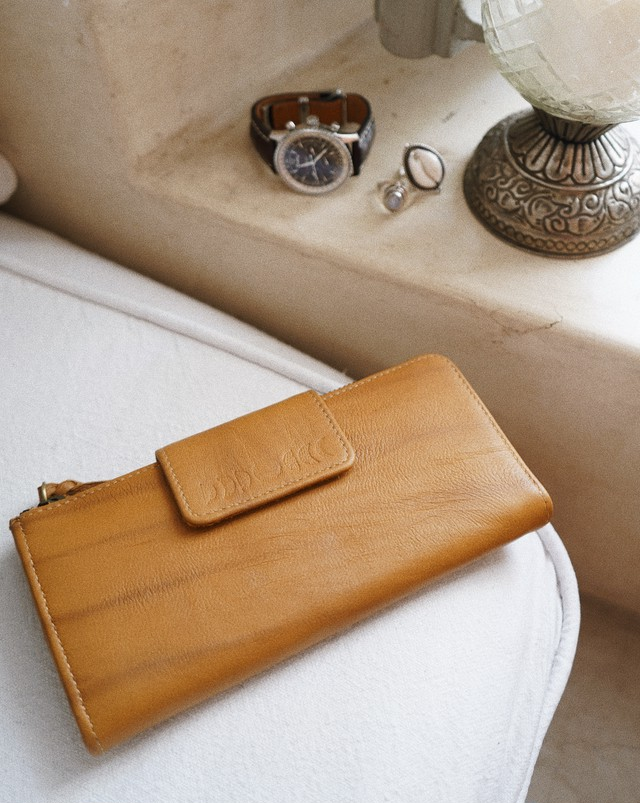 MOON LONG WALLET(brown)