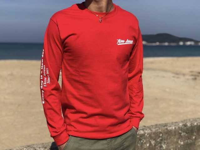 Right Message ロングTシャツ(red)