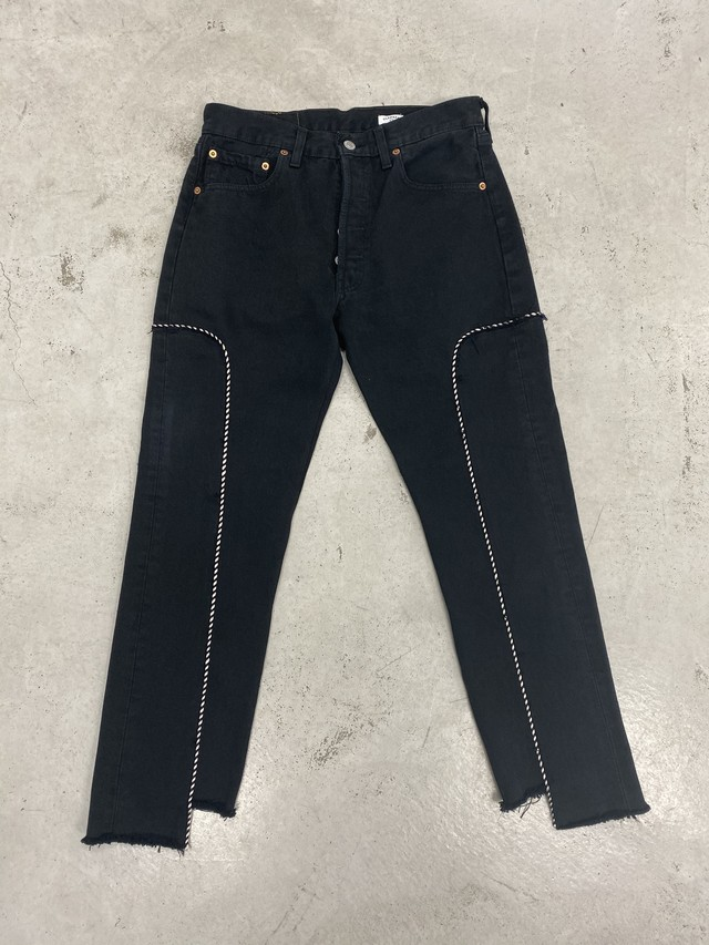 OLDPARK / WESTERN JEANS(BLK,Mサイズ)